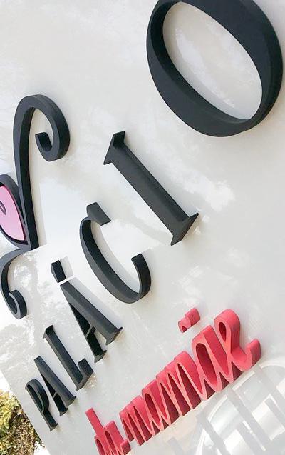 Letras Caixa na placa de ACM