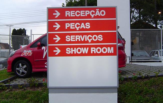 Placa de Sinalização Curitiba