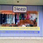 Vitrine da Loja Sleep Adesivada