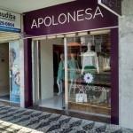 Fachada da vitrine da loja Apolonesa